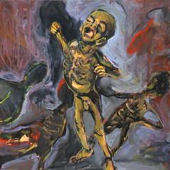Jorge Rando África óleo sobre tabla   122x122 cm 1983 (arteneoexpresionista) Tags: rando jorge áfrica
