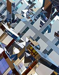 Ethereal (WhiPix) Tags: light sculpture geometric glass metal trellis puzzle chrome cube ethereal princeton fractal lantern myriad sherrerd jimiserman