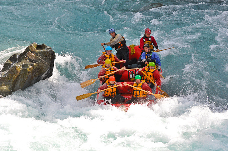 entering class five rapids on rangitata river nz
