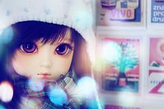 soft lights (Cyristine) Tags: cute girl ball asian lights dami doll bokeh adorable kawaii bjd msd jointed elfdoll
