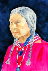 powow 2 (learning to paint) Tags: portrait watercolor nativeamerican
