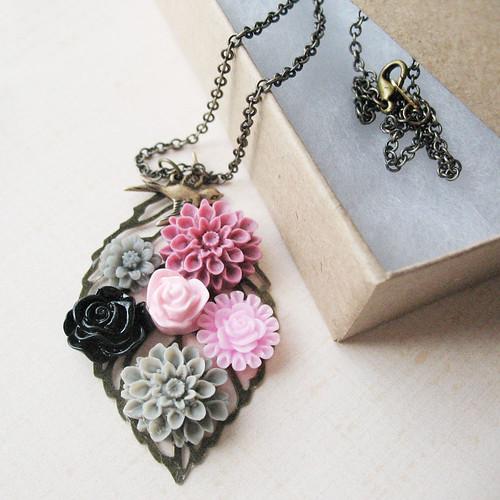 Grape Drop Necklace