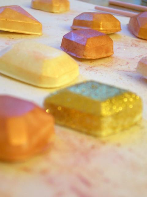 Gilded Gems close up parchment