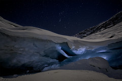 Glacial night (M.RICHI) Tags: lightpainting mountains ice stars glacier led morteratsch