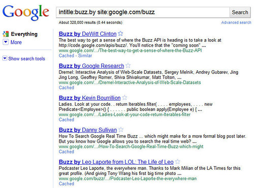 How to find a job with Google Buzz (1)