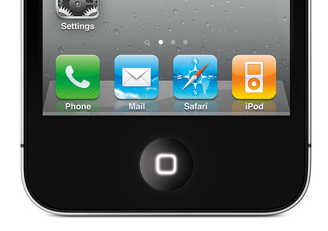 Glowing Home button