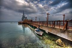 Maintenance time (Nejdet Duzen) Tags: sea cloud turkey pier boat türkiye deniz iskele sandal warship izmir bulut turkei seamuseum inciraltı savaşgemisi denizmüzesi mygearandme