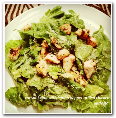 Caesar Salad with Lemon Pepper Grilled Chicken