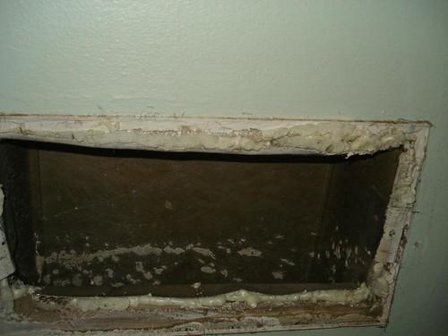 sealing around the return hvac duct
