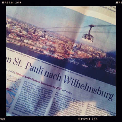 Seilbahn von St. Pauli nach Wilhelmsburg