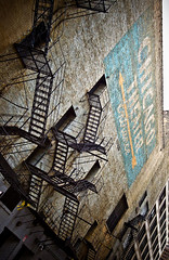 Chicago Theater (RichardDemingPhotography) Tags: longexposure windows people urban chicago streets brick cars glass stairs canon reflections rust downtown availablelight brokenglass trumptower lakeview canoneos lincolnpark doorways thel fastcars chicagoillinois roscos abandonedfactories cityofchicago canonlglass urbanexplorations tacksharp attentiontodetail northhalstead canoncameras apocalypsedecadence canon1dmarkiv canonworldwide garynutbolt canon1635mmf28seriesiillens canonproshooters urbexexplorers sidewalksinchicago lostforgotten amazingurbex
