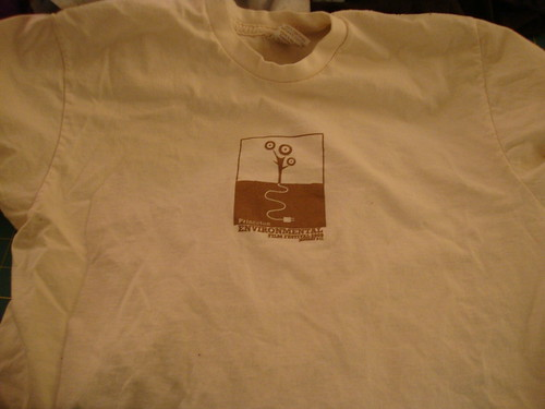 before:  PEFF 2009 organic cotton t-shirt