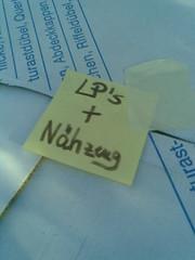 LP's + Nähzeug