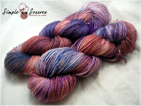 Handdyed Superwash MCN in Dusk