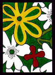 ATC 76 (Made by BeaG) Tags: red white flower green yellow atc groen belgium drawing belgi artisttradingcards geel rood wit markers flowerpower bloemen handdrawn tekening stiften beag artistradingcard getekend designedandmadebybeag ontworpenengemaaktdoorbeag atc76 beagatc76