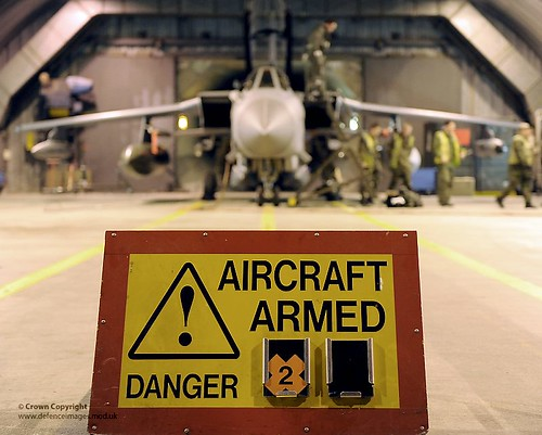 RAF Personnel Prepare Tornado Aircraft Ahead of Enforcing Libya No Fly Zone