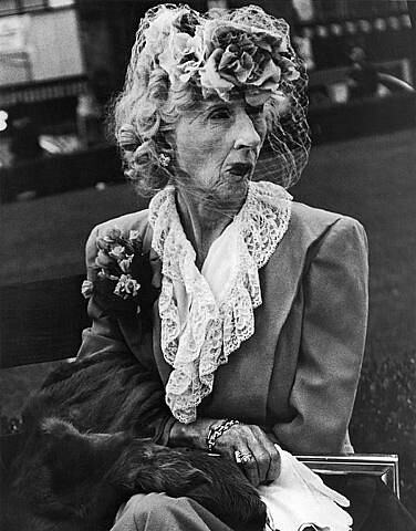 Lisette Model, Woman with Veil, San Francisco, 1947