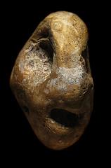 Stone 11 (Sea Moon) Tags: beach face rock pareidolia holes pebble anthropomorphic simulacrum