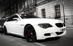 Black and White: BMW M6. (Jeroen Brunsting Photography) Tags: england white black london matt nikon britain united great kingdom bmw rims m6 vr londen 18105 koninkrijk verenigd worldcars d3100