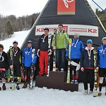 Lachlan Hicks of the Revelstoke Ski Club finished 8th in the men's Super Combined at the 2011 Canadian K2 Championships, Collingwood (pictured third from the right in this photo)