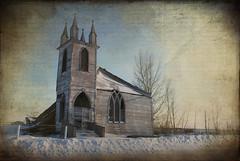 Laura (Harry2010) Tags: winter snow laura church window landscape rustic saskatchewan spiritual decayed