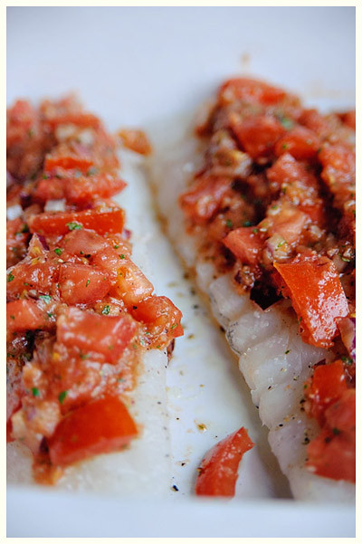 Cod with a Salsa Twist
