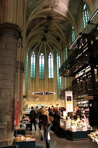 bookshop in old church