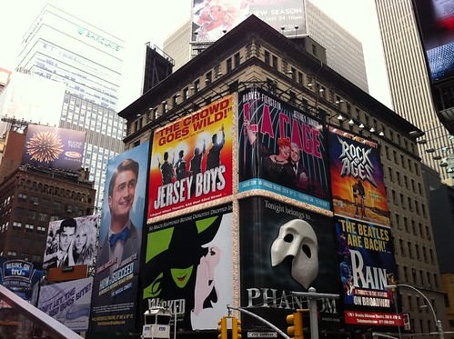 Times Square Broadway advertisements