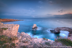 Agioi Anargiroi - Protaras - Cyprus (TeryKats) Tags: sunset sea color colour art water beautiful photoshop canon photography eos nice rocks waves slow cyprus 11 tokina shutter 16 500 hdr protaras photomatix lefteris 1116 anargiroi agioi katsouromallis terykats