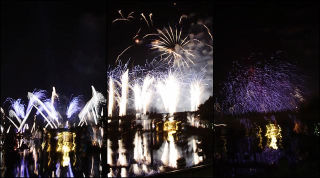 Epcot fireworks triptych