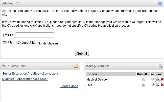 CV Screen