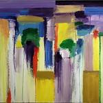 """<b>Vertical Brilliance</b><br/> Richard Scherubel (LC '63) (Acrylic)<a href=""""http://farm6.static.flickr.com/5140/5571791544_1e1f291abe_o.jpg"""" title=""""High res"""">∝</a>"""
