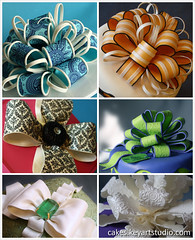 Gum paste/fondant bows (Cakes.KeyArtStudio.com) Tags: quebec montreal class bows fondant sugarart cakedecorating sugarcraft gumpast loopbow bowswithprint