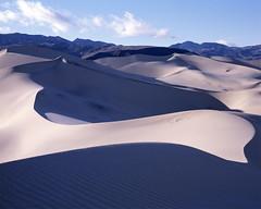 The Curve (Riverman___) Tags: california park color colour film landscape death fuji dunes nevada large slide sierra national valley 4x5 format 100 nikkor curve 45s provia e6 ebony eureka schneider