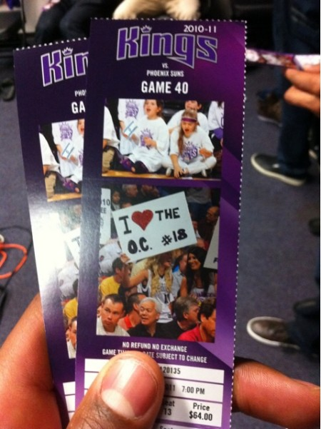 kings ticket