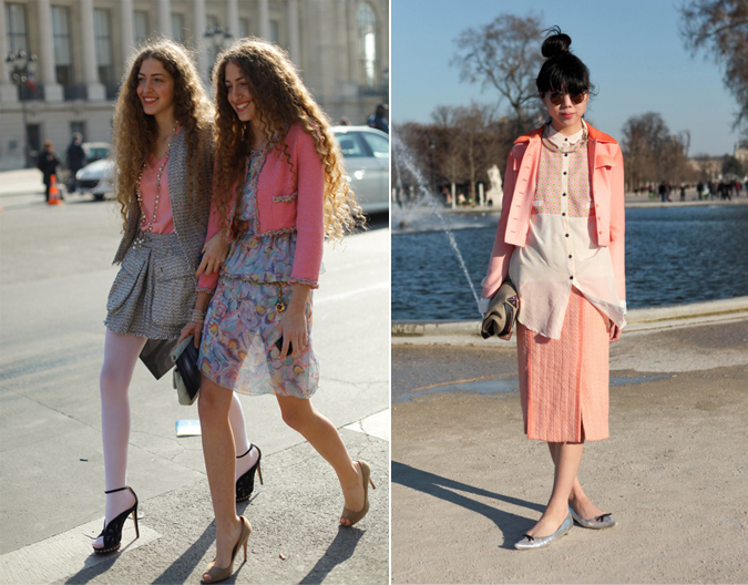 Think Pink: Street Style Pink Color Trends in Fashion, Spring 2011