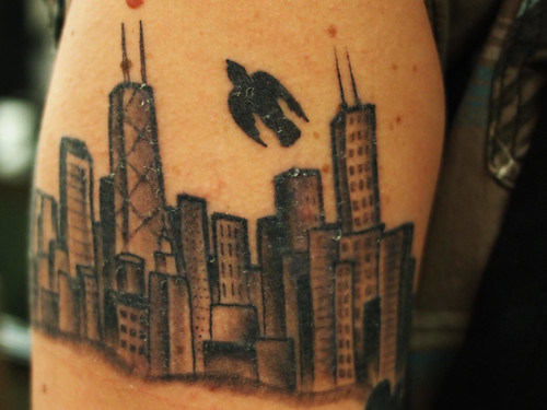 place in my heart and on this website for Chicago skyline tattoos