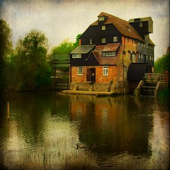 houghton mill (And Soon the Darkness) Tags: reflection texture mill square squareformat houghton stives watermill cambs memoriesbook houghtonwatermill magicunicornverybest