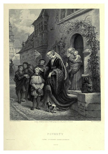 002-La pobreza-Illustrations of the life of Martin Luther 1862- Pierre Antoine Labouchère