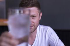 Portrait (joejungmann) Tags: portrait man water 50mm f22