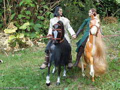 Bard and Tauriel (alegras dolls) Tags: thehobbit bard tauriel 16scale actionfigure