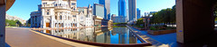 Panoramic Skyline (brooksbos) Tags: city sky urban reflection water architecture geotagged ma photography photo mr sony newengland cybershot reflectingpool bostonma pei prudential sonycybershot colonnade bostonist motherchurch masschusetts 02115 111huntington lurvely everyblock thatsboston dschx5v hx5v brooksbos chrisitanscience