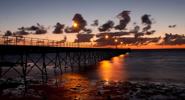 Sunset over Ceduna jetty