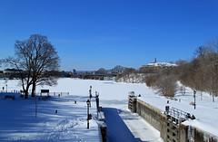 Looking the other way (SamSpade...) Tags: snow ice canon quebec ottawa bluesky ottawariver 373 alexandrabridge samueldechamplain 657 bluemagic nepeanpoint myfootprints gaveyachills bytownlocks