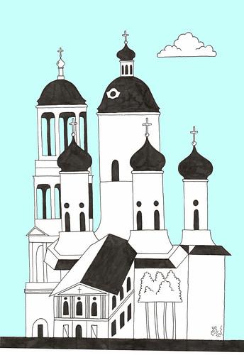Temple,Vladimirsky Prospect