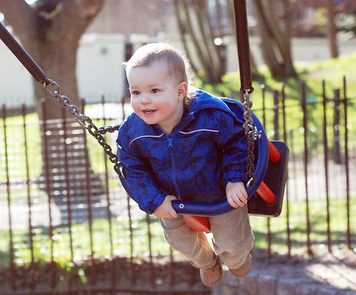 dylan on a swing :)