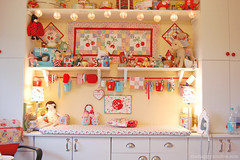 My ironing center / Love Pockets for Japan (Happy Zombie) Tags: cute ikea japan studio toys office earthquake sew relief tsunami kawaii quilting lowes fundraising organization ironing organize zakka sewingroom craftroom mercycorps internationalredcross lovepocketsforjapan