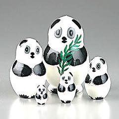 Panda Bear Family Nesting Doll (The Russian Store) Tags: trs matrioshka matryoshka russiannestingdolls  stackingdoll  russianstore  russiangifts  russiancollectibledolls shoprussian