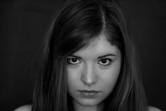 (Sarah Belin) Tags: girls portrait bw girl face canon 50mm eyes faces serious nb f18 fille filles visage regard 50mmf18 visages 1000d eos1000d