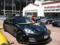 Sylvester Stallone at Beverly Hills Porsche (PorscheLosAngeles) Tags: black los sylvester angeles hills porsche beverly sly 4s stallone panamera
